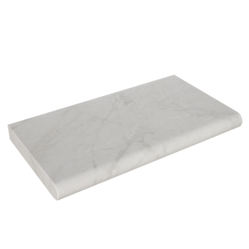 Crema Marfil Marble 12x24x2'' Tumbled Coping
