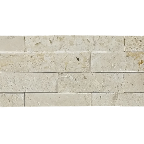White Travertine Ledger Stone
