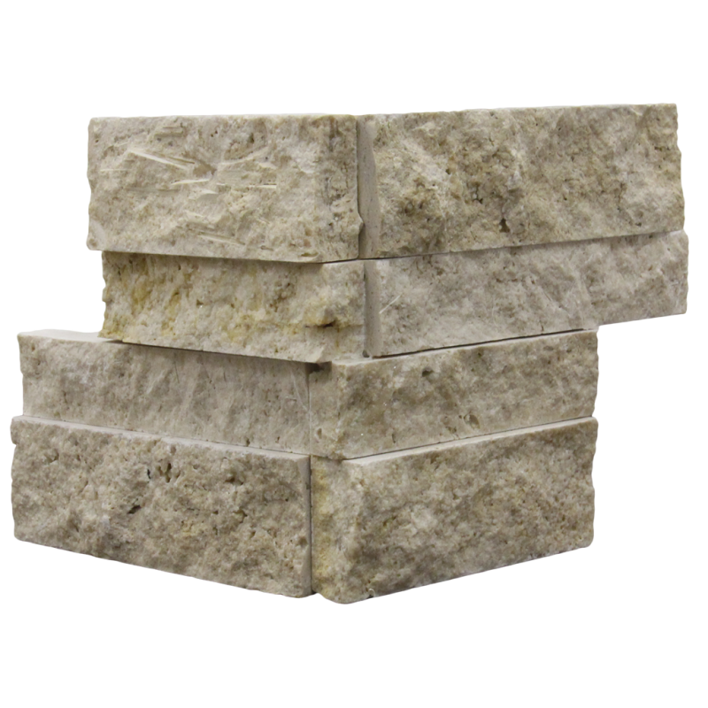 Ivory Travertine Corner Piece