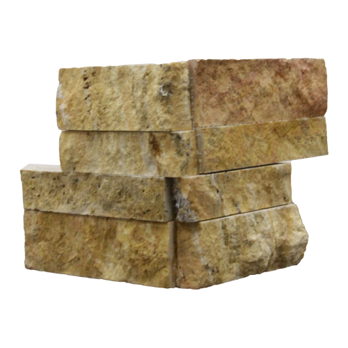Scabos Travertine Ledger Corner Piece