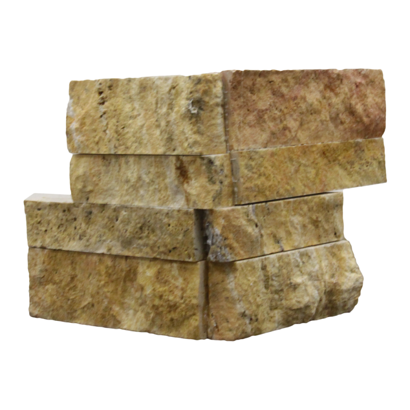 Scabos Travertine Corner Piece