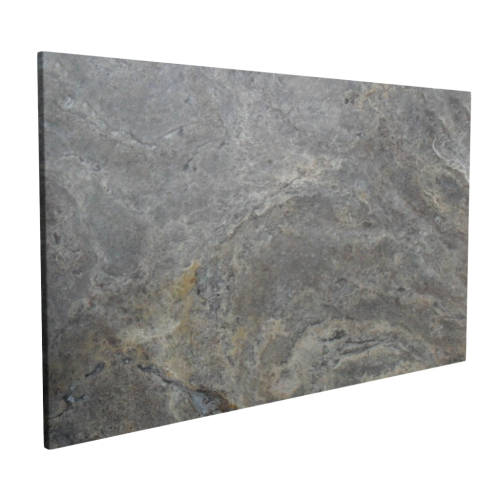 Silver Travertine Exterior Slab 2""