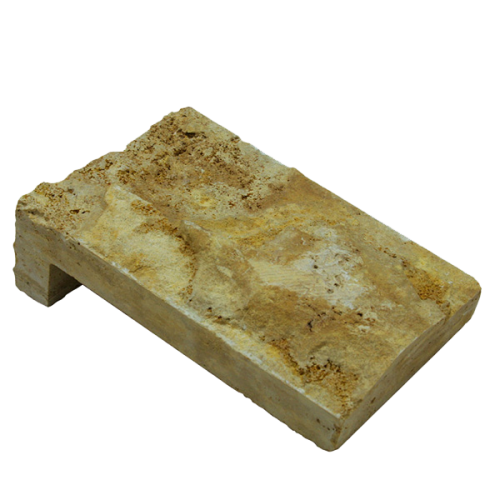 Gold Travertine Veneer Corner Piece