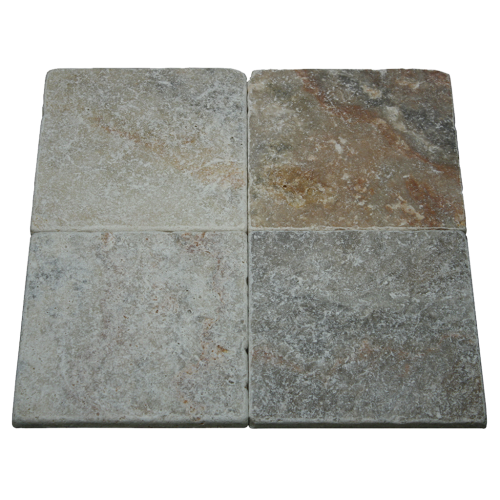 4''x4'' Mexican Tumbled Travertine Tile