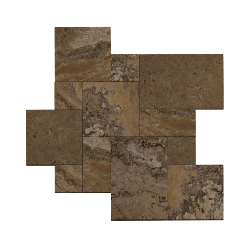 French Pattern Antico Stone Brushed Travertine Tile