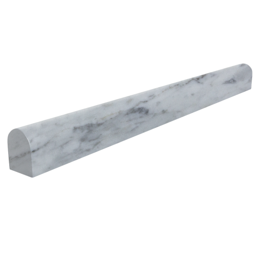 Imperial White Carrara Pencil Marble Moulding