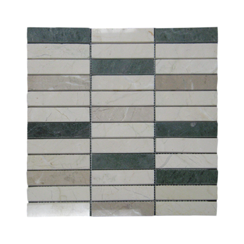 Crema Winter Green Cappucino Decoline Polished Marble Mosaic