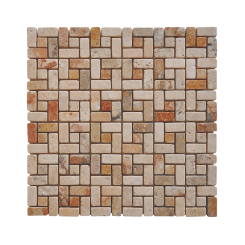 Mexican Mm7 Travertine Mosaic