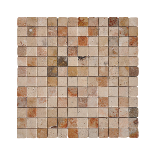 Mexican 1''x1'' Travertine Mosaic