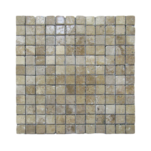 Walnut 1''x1'' Travertine Mosaic