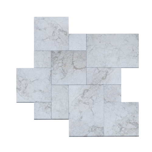 Crema Winter Marble Tumbled French Pattern