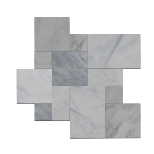 Afyon Ice Marble Tumbled French Pattern Paver