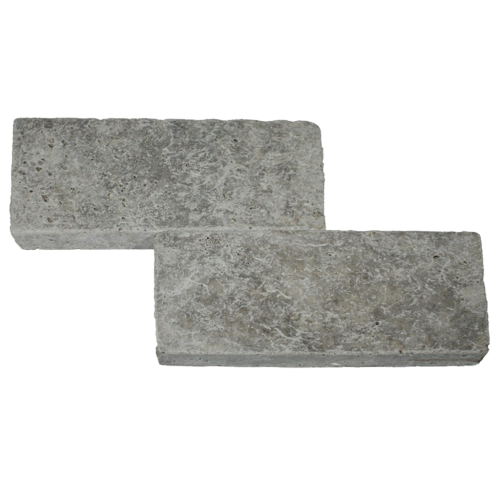"Silver Travertine 6""x12"" Tumbled"