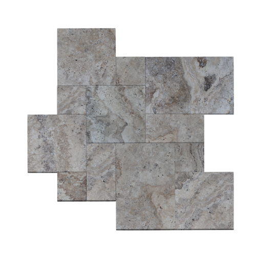 Antico Onyx Travertine Tumbled French Pattern Paver