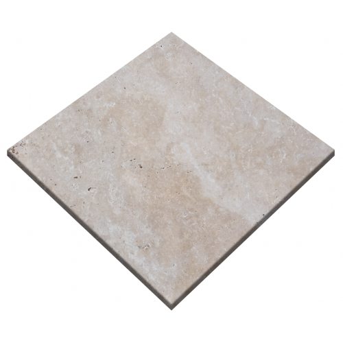 "White Travertine Tumbled 24""x24"" Paver"