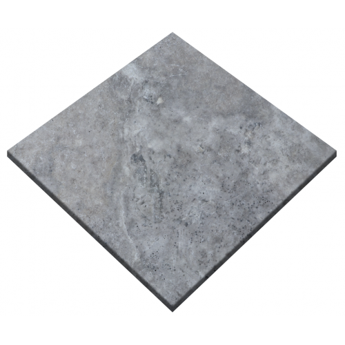 "Silver Travertine 24""x24"" Tumbled Paver"
