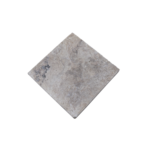 "Silver Travertine 16""x16"" Tumbled Paver"
