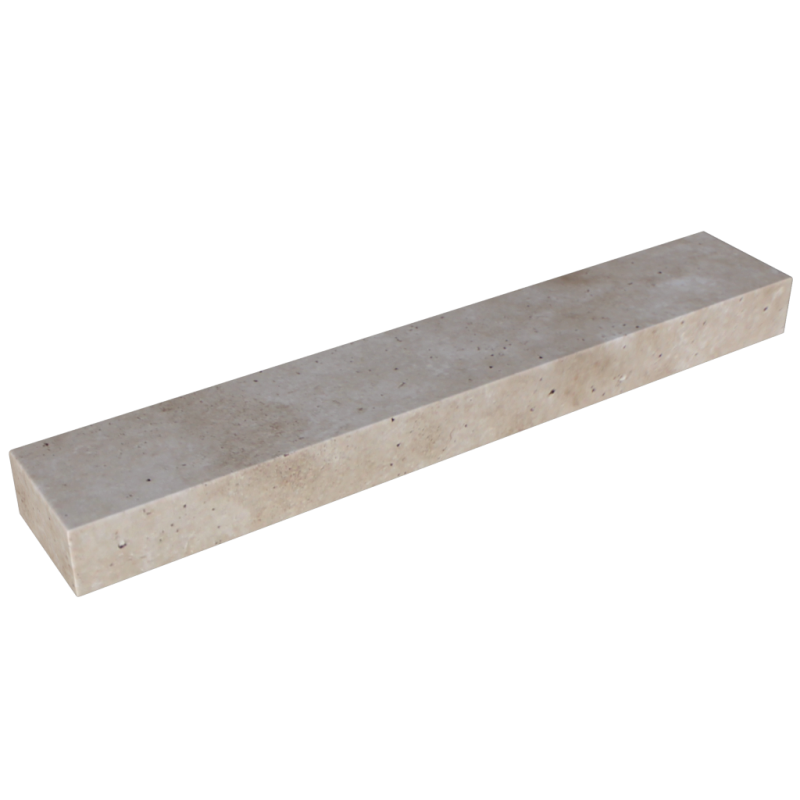 "Walnut Travertine 12""x72""x6"" Travertine Block Step"