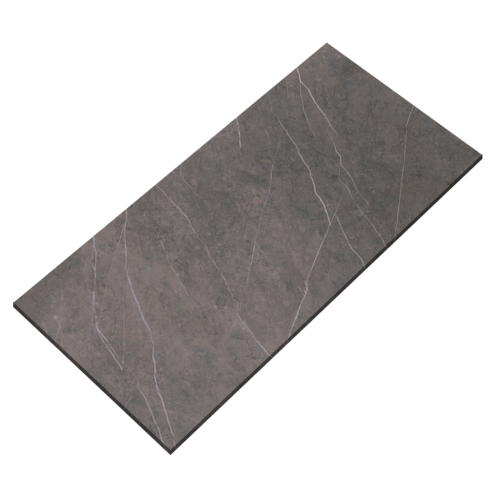 24''x48'' Grey Marble Glossy Porcelain Tile