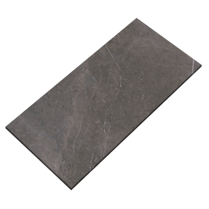 12''x24'' Grey Marble Glossy Porcelain Tile